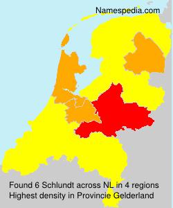 Familiennamen Schlundt - Netherlands