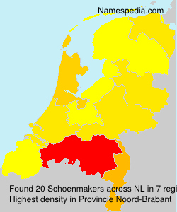 Surname Schoenmakers in Netherlands