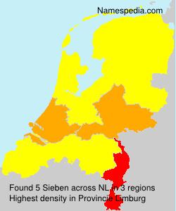 Familiennamen Sieben - Netherlands