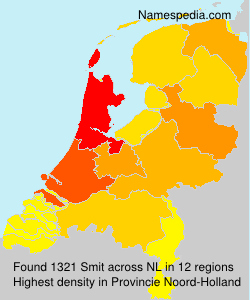 Surname Smit in Netherlands