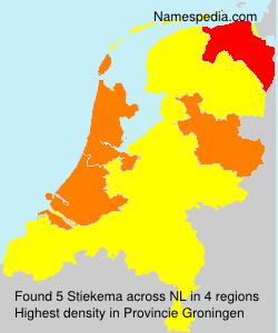 Surname Stiekema in Netherlands