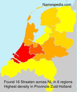 Surname Straaten in Netherlands