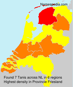 Surname Tanis in Netherlands