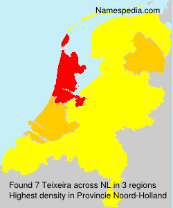 Surname Teixeira in Netherlands