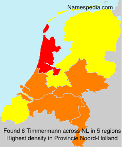 Surname Timmermann in Netherlands
