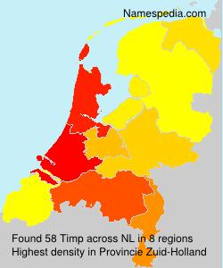 Surname Timp in Netherlands