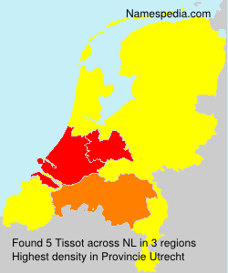 Surname Tissot in Netherlands