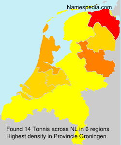 Surname Tonnis in Netherlands