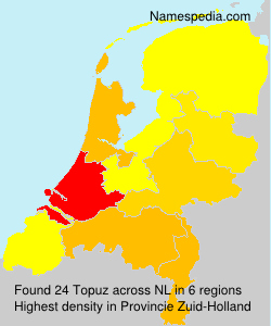Surname Topuz in Netherlands