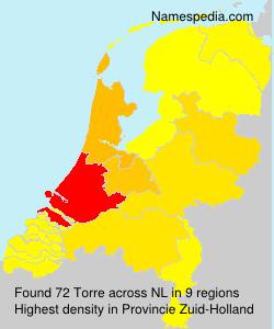 Surname Torre in Netherlands