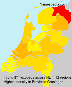 Surname Toxopeus in Netherlands