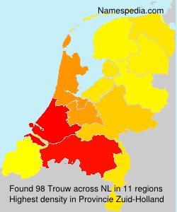Surname Trouw in Netherlands