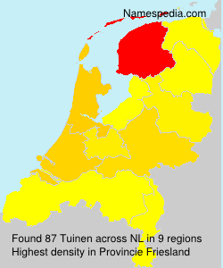 Surname Tuinen in Netherlands