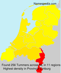 Surname Tummers in Netherlands