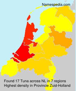 Familiennamen Tuna - Netherlands