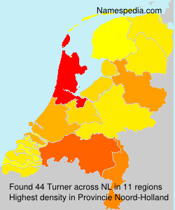 Surname Turner in Netherlands