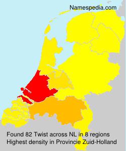 Surname Twist in Netherlands