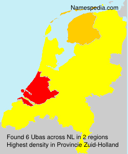 Familiennamen Ubas - Netherlands