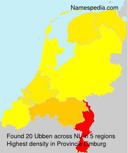 Familiennamen Ubben - Netherlands