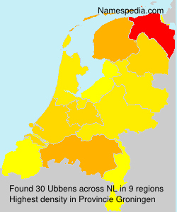 Surname Ubbens in Netherlands