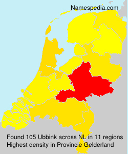 Surname Ubbink in Netherlands