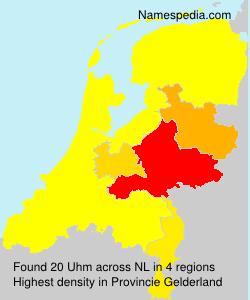 Surname Uhm in Netherlands