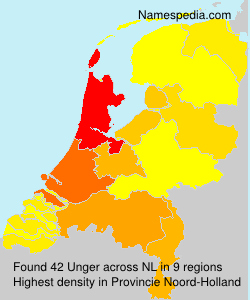 Surname Unger in Netherlands