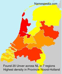 Familiennamen Unver - Netherlands