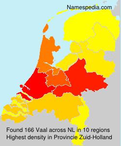Familiennamen Vaal - Netherlands