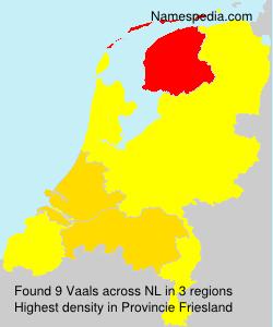 Familiennamen Vaals - Netherlands