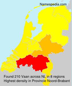Familiennamen Vaan - Netherlands