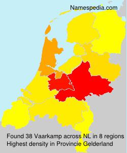 Familiennamen Vaarkamp - Netherlands