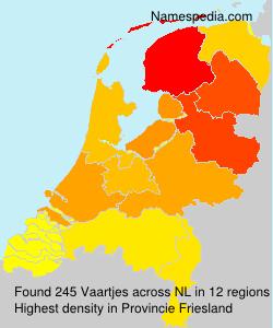 Familiennamen Vaartjes - Netherlands
