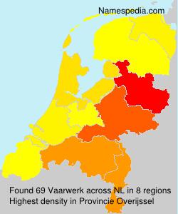 Familiennamen Vaarwerk - Netherlands