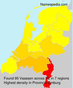 Surname Vaassen in Netherlands