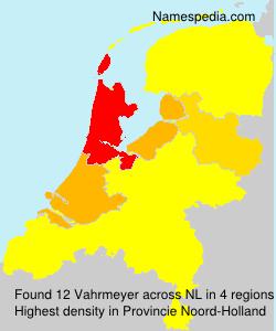 Surname Vahrmeyer in Netherlands