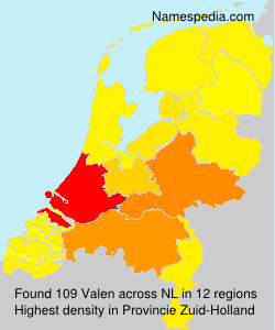 Surname Valen in Netherlands