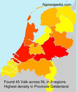 Surname Valk in Netherlands