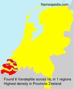 Surname Vandepitte in Netherlands