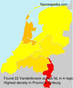 Surname Vanderbroeck in Netherlands