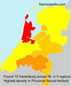 Surname Vanenburg in Netherlands