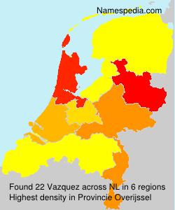 Familiennamen Vazquez - Netherlands