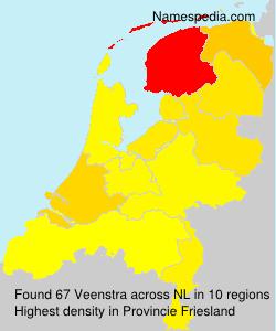 Surname Veenstra in Netherlands