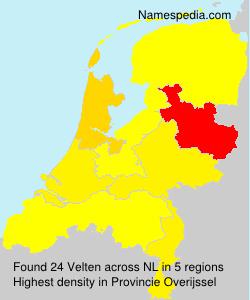 Familiennamen Velten - Netherlands