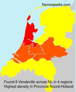 Surname Vendeville in Netherlands