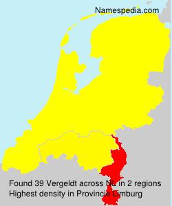 Surname Vergeldt in Netherlands