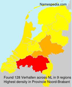Surname Verhallen in Netherlands