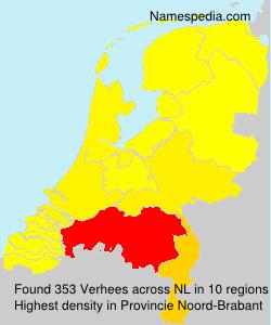 Surname Verhees in Netherlands