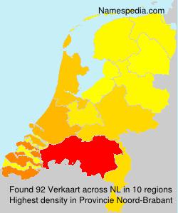 Surname Verkaart in Netherlands