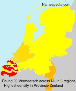 Surname Vermeersch in Netherlands